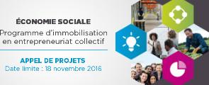 Programme d'immobilisation en entrepreneuriat collectif.