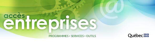 Accès entreprises. Programmes, services, outils.